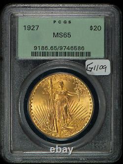 1927 $20 Gold Saint Gaudens Double Eagle OGH PCGS MS 65 SKU-G1109