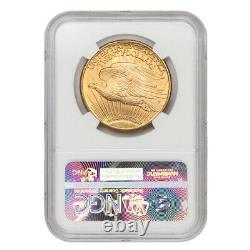 1927 $20 Gold Saint Gaudens NGC MS66 mint gem grade Double Eagle coin