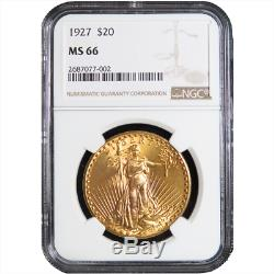 1927 $20 Gold St. Gaudens Double Eagle NGC MS66