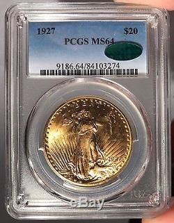 1927 $20 PCGS MS 64 CAC St. Gauden's Gold Double Eagle