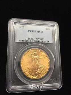 1927 $20 Saint Gaudens Double Eagle MS65 PCG