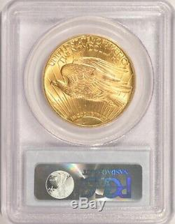 1927 $20 Saint Gaudens Gold Double Eagle Coin PCGS MS66 in an Older Holder