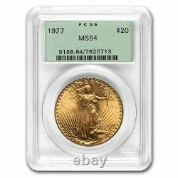 1927 $20 Saint-Gaudens Gold Double Eagle MS-64 PCGS (OGH) SKU#232650