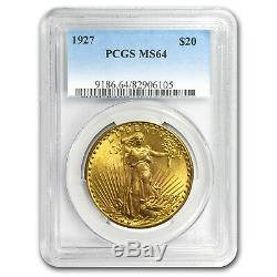 1927 $20 Saint-Gaudens Gold Double Eagle MS-64 PCGS SKU#11529