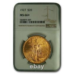 1927 $20 Saint-Gaudens Gold Double Eagle MS-66+ NGC SKU#175323