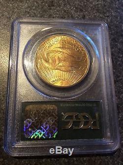 1927 $20 Saint Gaudens Gold Double Eagle Saint Gaudens MS-63 PCGS tone coin St