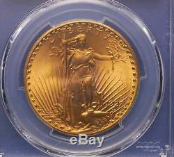 1927 $20 St. Gaudens Double Eagle Gold Coin PCGS MS 66+ Incredible Luster! P. Q. +