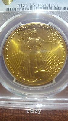 1927 $20 St Gaudens Gold Pcgs Ms 66 Saint Gaudens Double Eagle