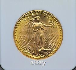 1927 NGC MS63 $20 St. Gaudens Double Eagle Gold Coin 119DUD