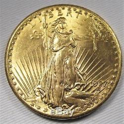 1927-P $20 Double Eagle St. Gaudens. 900 Fine Gold. 96750oz CH+ UNC AE671