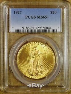 1927 PCGS MS65+ $20 Saint Gaudens Gold Double Eagle