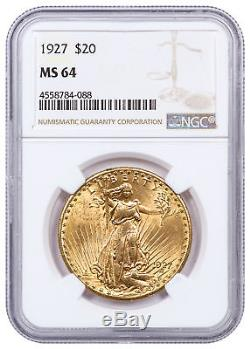 1927 Saint-Gaudens $20 Gold Double Eagle NGC MS64 SKU17084