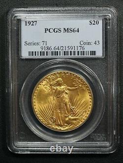 1927 St. Gaudens $20 Twenty Dollar Gold Double Eagle PCGS MS 64