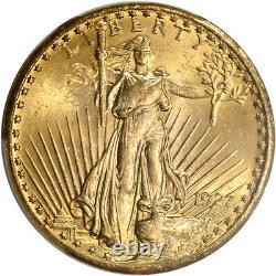 1927 US Gold $20 Saint-Gaudens Double Eagle PCGS MS63