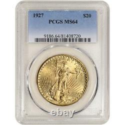 1927 US Gold $20 Saint-Gaudens Double Eagle PCGS MS64