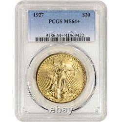 1927 US Gold $20 Saint-Gaudens Double Eagle PCGS MS64+