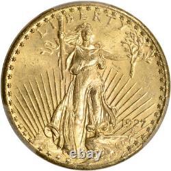 1927 US Gold $20 Saint-Gaudens Double Eagle PCGS MS65