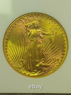 1928 $20 Saint-Gaudens Gold Double Eagle MS-64 NGC