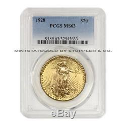 1928 $20 Saint Gaudens PCGS MS63 Choice graded Gold Double Eagle Philadelphia