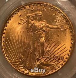 1928 $20 St. Gaudens Double Eagle Pcgs Ms65 Saint Ms-65 Gem Quality