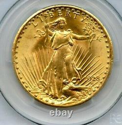 1928 Twenty Dollar $20 Saint Gaudens Double Eagle PCGS 64