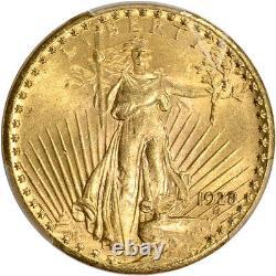 1928 US Gold $20 Saint-Gaudens Double Eagle PCGS MS62