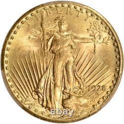 1928 US Gold $20 Saint-Gaudens Double Eagle PCGS MS65+ Plus Grade