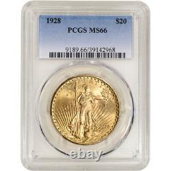1928 US Gold $20 Saint-Gaudens Double Eagle PCGS MS66
