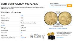 1929 PCGS MS64 Key Date Non-Doctored $20 Saint Gaudens Gold Double Eagle