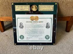 1933 $20 1.5 oz. 9999 Gold Double Eagle Saint Gaudens U. S. Mint Restrike ANA Co