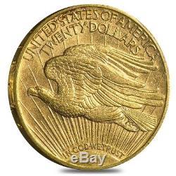 $20 Gold Double Eagle Saint Gaudens Brilliant Uncirculated BU (Random Year)