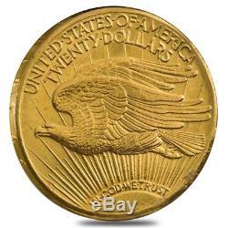 $20 Gold Double Eagle Saint Gaudens Ex Jewelry (Random Year)