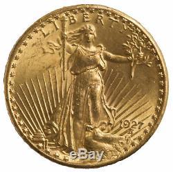 $20 Gold Saint-Gaudens Double Eagle Coin (Random Date) VF or Better 0.9675 oz