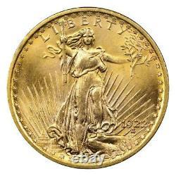$20 Saint Gaudens Double Eagle Gold Coin (BU) Random Year