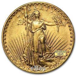 $20 Saint-Gaudens Gold Double Eagle AU (Random Year) SKU #1122