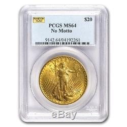 $20 Saint-Gaudens Gold Double Eagle MS-64 PCGS, Random Year. Our pick