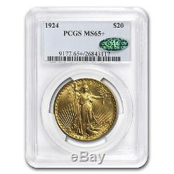 $20 Saint-Gaudens Gold Double Eagle MS-65+ PCGS/NGC (CAC) SKU#79178