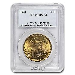 $20 Saint-Gaudens Gold Double Eagle MS-65+ PCGS (Random) SKU #64301