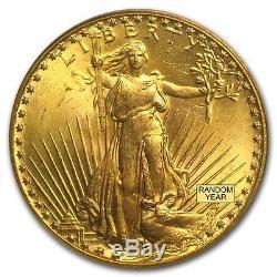 $20 Saint-Gaudens Gold Double Eagle MS-65 PCGS (Random) SKU #7225