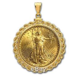 $20 Saint-Gaudens Gold Double Eagle Pendant (Rope-ScrewTop Bezel) SKU #63488