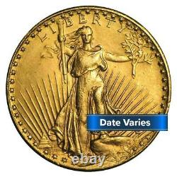 $20 St. Gaudens Gold Double Eagle 0.9675 ozt About Uncirculated Random Year