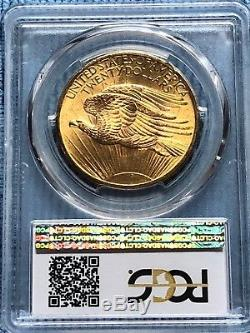 $20 US Gold Double Eagle, St. Gaudens. 1908 No Motto, PCGS MS63. Beautiful