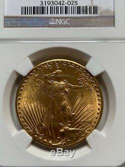 $20 US Gold Double Eagle, St. Gaudens. 1928 NGC MS63. Beautiful Investment Coin