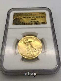 2009 $20 Gold Ultra High Relief Double Eagle NGC MS70 Saint Gaudens Gold