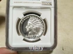 2017 1 oz Saint Gaudens Commemorative Double Eagle Indian Silver HR NGC PF69 ULT