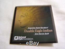 2017 Saint Gaudens 1oz Double Eagle Indian High Relief Gold Proof NGC PF70 w COA