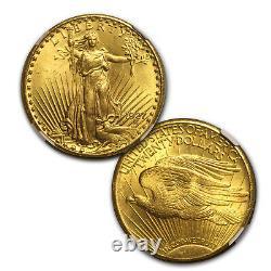 7-Coin $20 Saint-Gaudens Gold Double Eagle Date Set MS-63 NGC SKU#163239