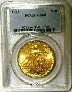 Awesome MS64 1928 OGH PCGS Old-Holder IRIDESCENT St. Gaudens US GOLD Double Eagle