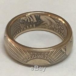 Beautiful Coin Ring Handcrafted From A 1925 $20 Saint Gaudens Gold Double Eagle