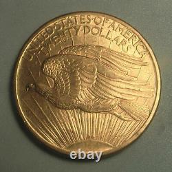 Beautiful! No Motto 1907 Gold $20 Saint Gaudens Double Eagle Coin BU+ (#134)